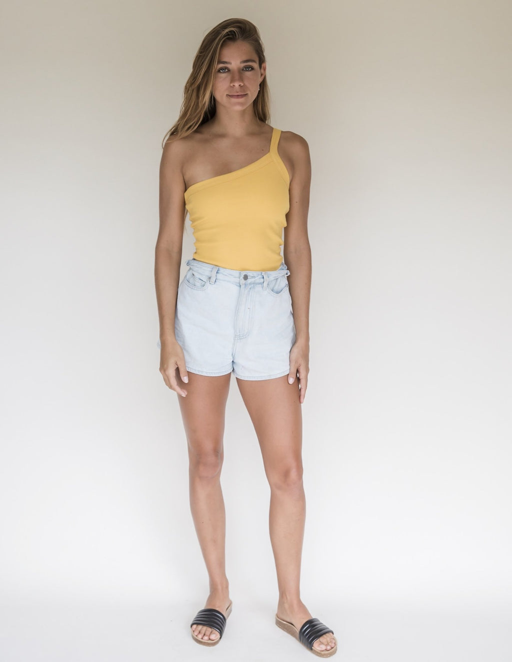 Yellow | Women's One Strap Bodysuit | Raised By Water