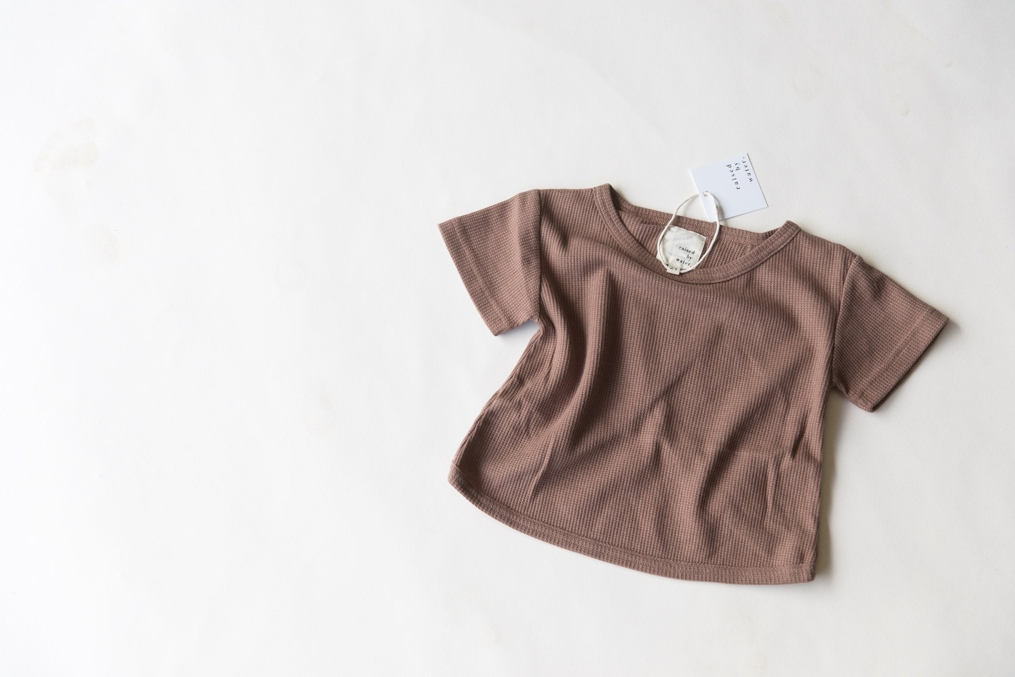 Brown | Open Back Tee | Raised By Water