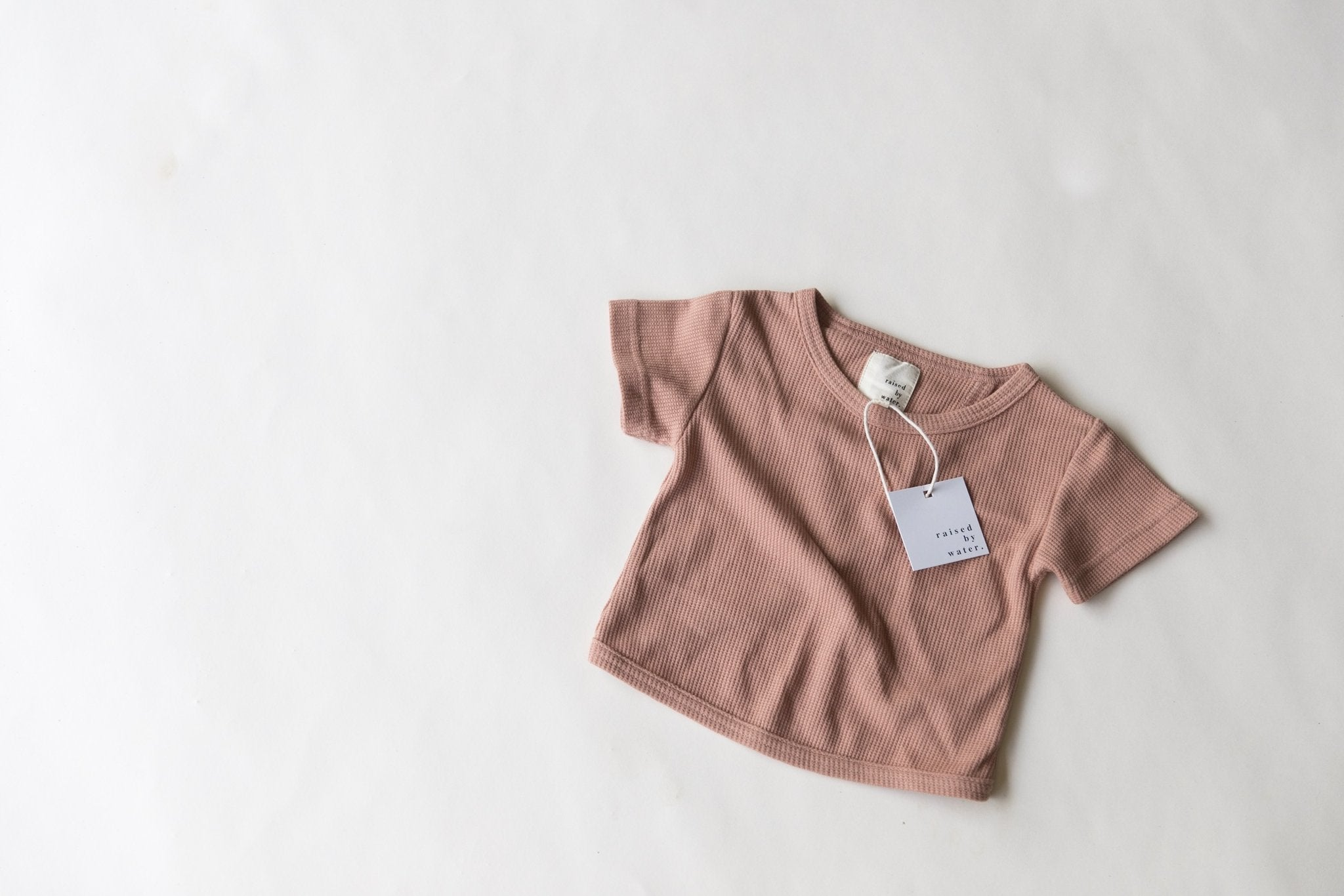 Dusty Rose | Open Back Tee | Raised By Water