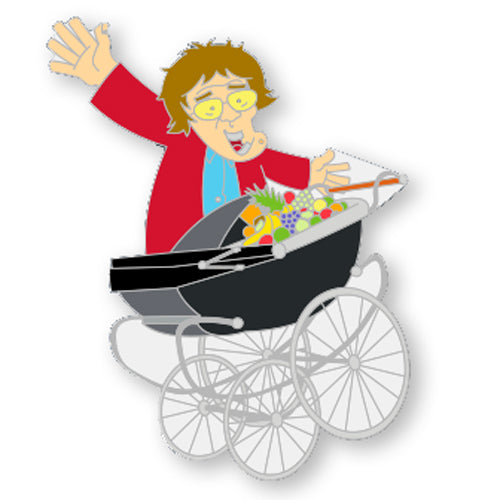 Mrs. Brown Pram Pin Badge