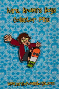 Mrs. Brown Skateboard Pin