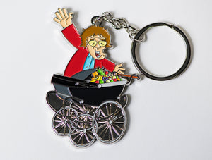 Agnes and Pram Keychain