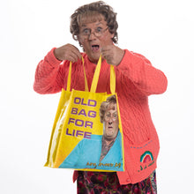 "Load image into Gallery viewer, Mrs. Browns Boys Tote Bag ""Old Bag for Life"""