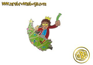 Mrs. Brown Xmas Tree Pin Badge