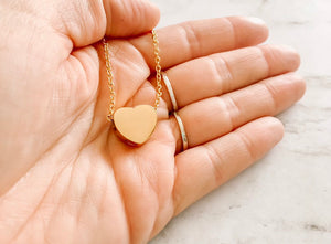 Floating Heart Cremation Urn Necklace