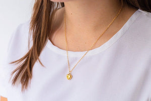 Gold Fill Heart Cremation Urn Necklace