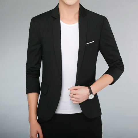 Suit Slim Fit Blazer Men Fashion Business Casual