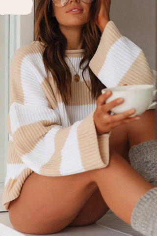 Striped Sweater - Women's Fashion Pullovers