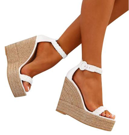 Casual White Wedges