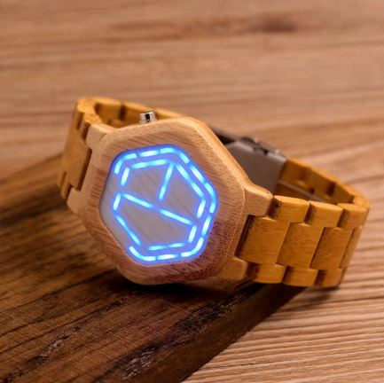 Wooden Digital Watch