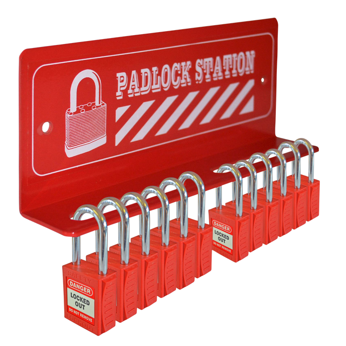 ASEC 12 Padlock Mini Lockout Tagout Station