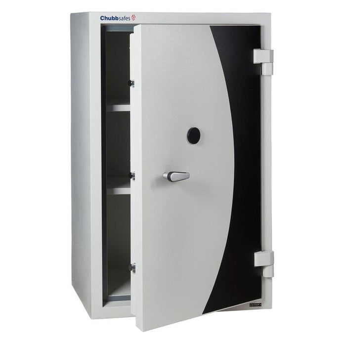 Chubbsafes DPC 240 Key Locking fire safe, safe door partly open