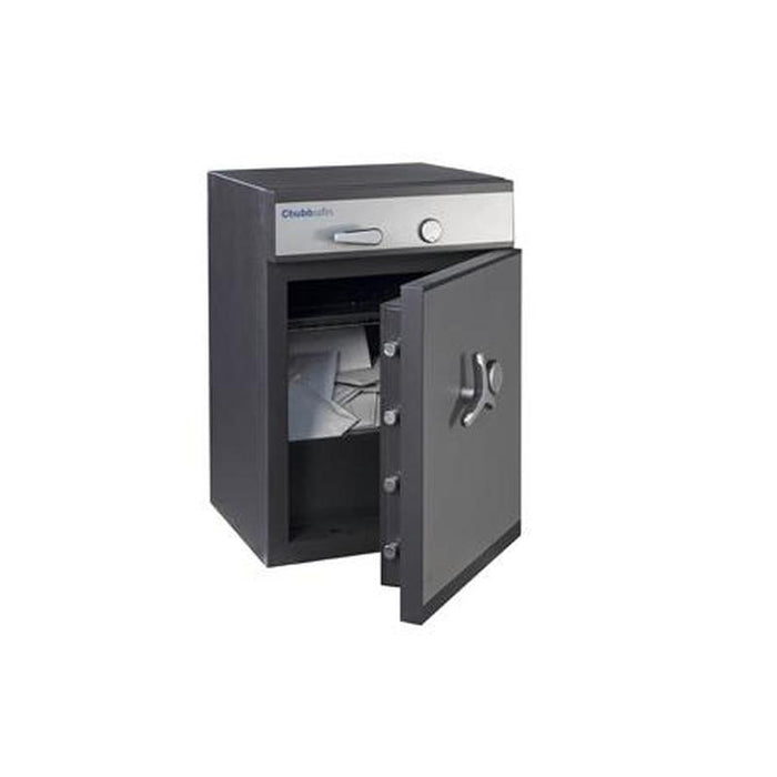 Chubbsafes ProGuard Deposit Grade 2 - 110 Key Locking Deposit Safe with the door slightly open