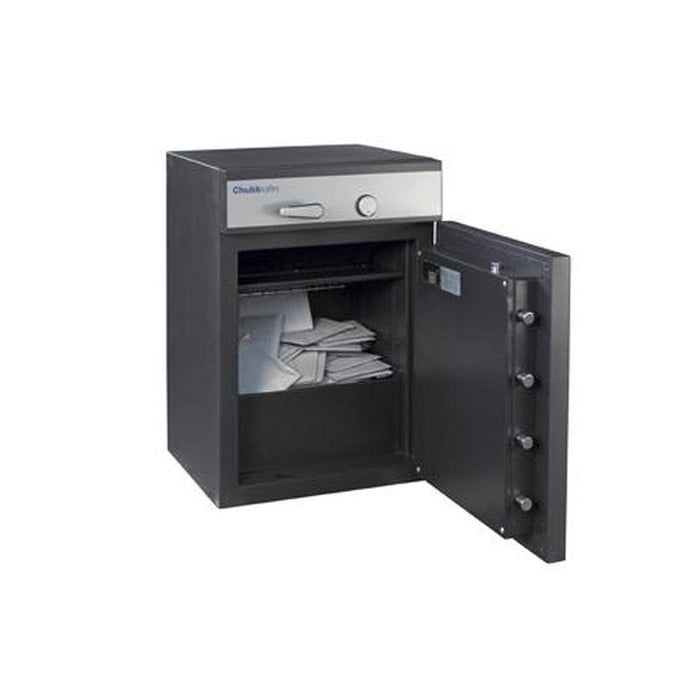 Chubbsafes ProGuard Deposit Grade 2 - 110 Key Locking Deposit Safe with the door fully open