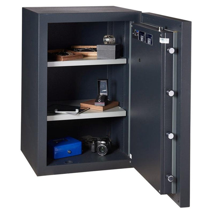 Chubbsafes Duoguard Grade 1 150K Key locking safe -  Safe door wide open 2 shelves