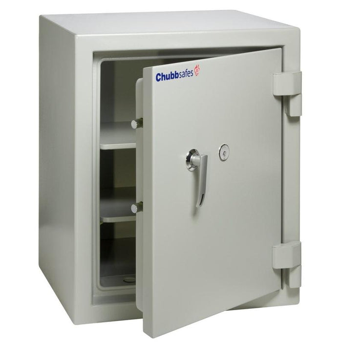 Chubbsafes Executive 65 K Keylocking Fire proof Safe with door slightly open