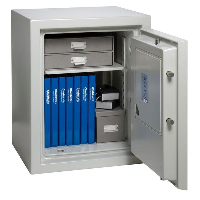 Chubbsafes Executive 65 K Keylocking Fire proof Safe with door fully open