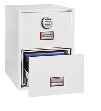 "Phoenix World Class Vertical Fire File 25"" FS2252E Electronic Locking Filing Cabinet"