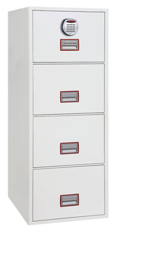 "Phoenix World Class Vertical Fire File 25"" FS2254E Electronic Locking Filing Cabinet"