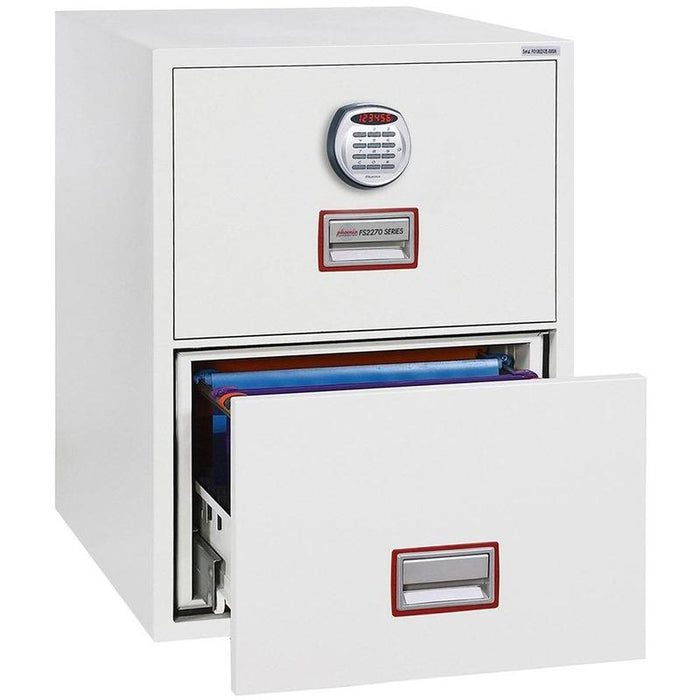 Phoenix World Class Vertical Fire File FS2272E Electronic Locking Filing Cabinet