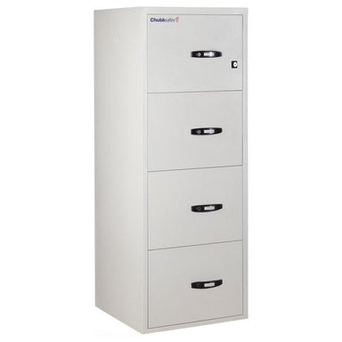 "Chubbsafes Fire File 1hr 4 drw 25"" Key Locking Filing Cabinet"
