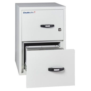 "Chubbsafes Fire File 1hr 2drw 25"" Key Locking Filing Cabinet"