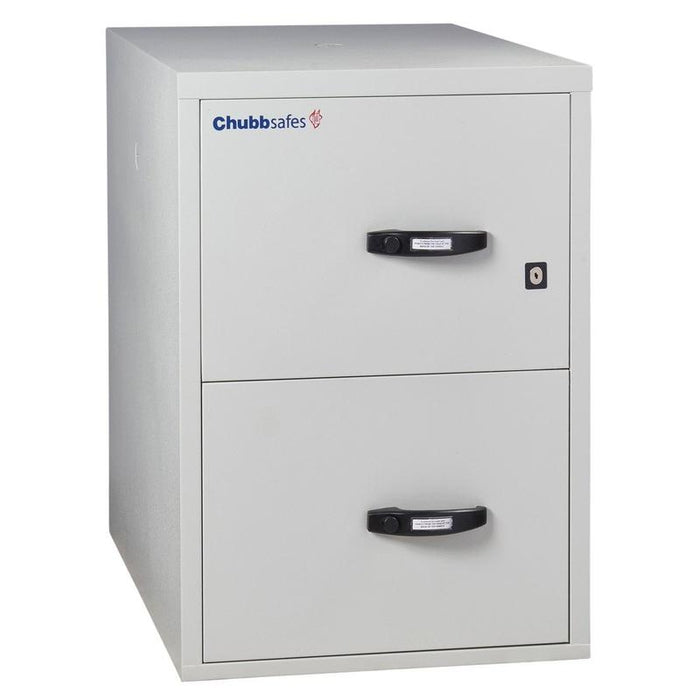 Chubbsafes Fire Proof Filing Cabinet with 2 drawers that are closed