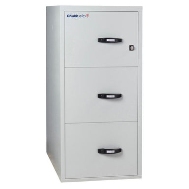 "Chubbsafes Fire File 2hr 3 drw 31"" Key Locking Filing Cabinet"