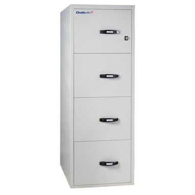 "Chubbsafes Fire File 2hr 4 drw 31"" Key Locking Filing Cabinet"