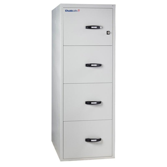 Chubbsafes Fire Proof Filing Cabinet with 4 drawers that are all closed