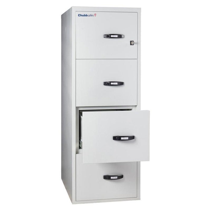 Chubbsafes Fire File 120 - 4 Drawer Key Locking Filing Cabinet