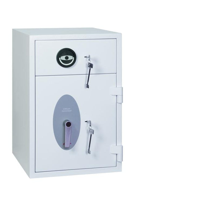 An image of Phoenix Diamond Deposit HS1090KD Key Locking Deposit Safe