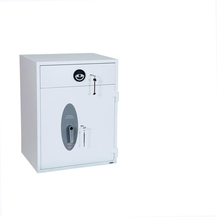 An image of Phoenix Diamond Deposit HS1092KD Key Locking Deposit Safe