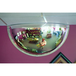 Securikey Hemisphere Convex Exterior Half Face Mirror - M18535HO 600MM