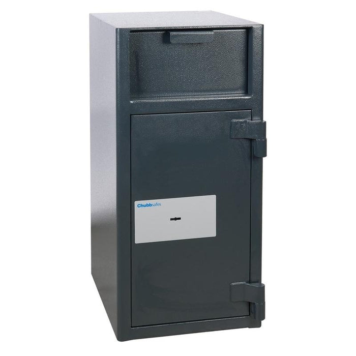 Chubbsafes Omega Deposit Size 2K Key Locking Deposit Safe with doors closed