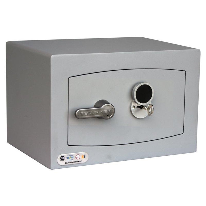 An image of Securikey Mini Vault Silver 0K Key Locking Safe
