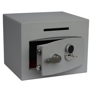 Securikey Mini Vault Deposit Silver 1 Key Locking Deposit Safe