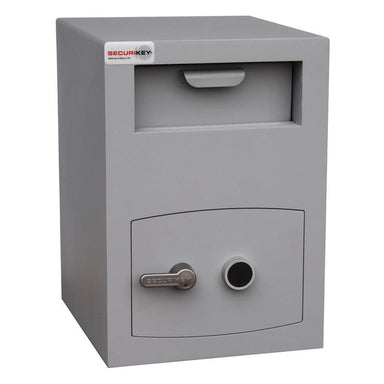Securikey Mini Vault Deposit Silver 2 Key Locking Deposit Safe