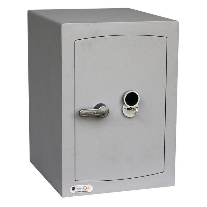 An image of Securikey Mini Vault Silver 2K Key Locking Safe