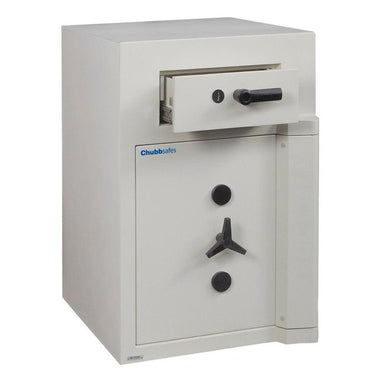 Chubbsafes Europa Grade 5 Size 2 key locking deposit safe with open drawer deposit