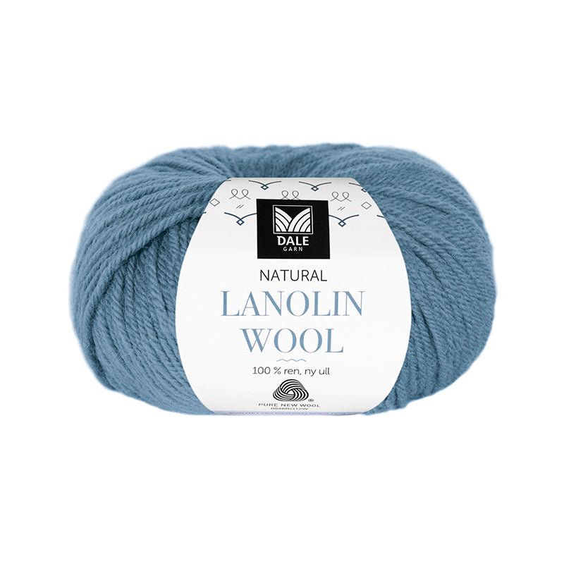 Lanolin ull - (1433) Lys denim