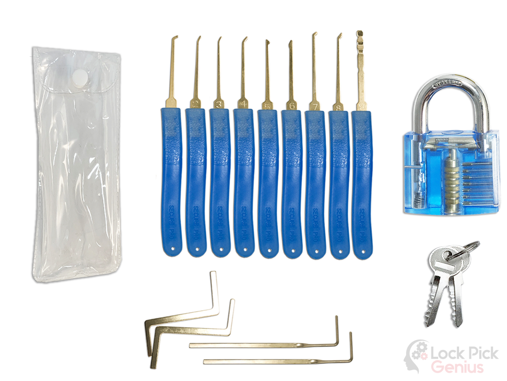 Forenzics 13 piece lock pick set with 1 practice lock
