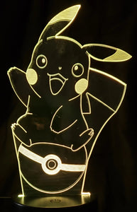 Pikachu on Pokeball