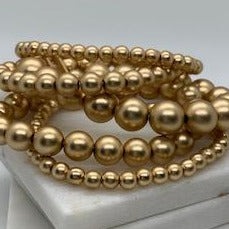 Brush Gold Beaded Bracelet