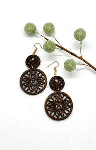 Double Circle Scrolls Earrings