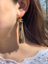 Load image into Gallery viewer, Lucy Leopard Fringe Earring