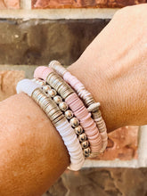 Load image into Gallery viewer, London Lane Cotton Candy Bracelet Stack Set