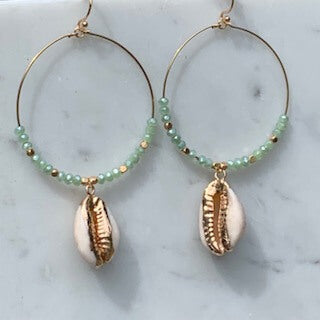 Beaded Shell hoop