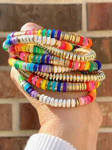 London Lane Day Dream Rainbow Bracelet Stack