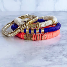 Load image into Gallery viewer, London Lane Newport Beach Heishi Bracelet Stack Set